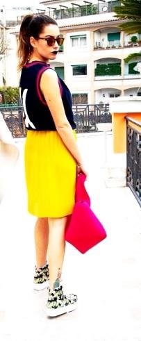 t-shirt and skirt// department five shoes// jeffrey campbell sunglasses //spektre bag// les fille des fleurs